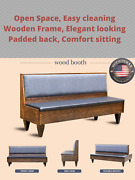 Restaurant Wood Booth Handcrafted In Usa. With Wooden Legs