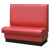 Red Restaurant Booth Single And Double 60long X 42 High Upholstered Plain Back