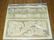 Vintage Craftaid 6571 Leather Craft Template Triple-fold Wallet And Belt New