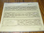 Vintage Craftaid 6548 Leather Belt Template 1 3/4 Name And Design Sealed