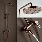 Wall Mounted Shower Set Panel Mixer Tap Faucet 3-functions Elegant Bathroom Tool
