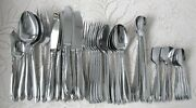 Made In Japan Nakazato Vintage Stainless Silverware Lot 42 Pieces Nab6