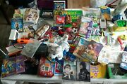 Kids Entertainment Lot Toys Games Crafts Dvds Junk Drawer Lots New See Pics.