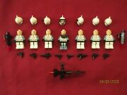 Lego Star Wars Minifigures Lot. Commander Wolffe And Clone Troopers Weapons