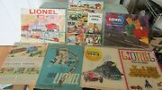 Vintage Lot Of 7 Lionel Train And Toys Catalogs Booklets 1960 - 1966 Used 1960's