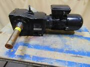 3/4 Hp Nord Electric Motor With Dual Output Gearbox Speed Reducer 1-1/2 Shaft