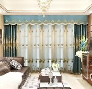 Embroidered Curtains Window Textile Ceiling Installation Home Hanging Decoration