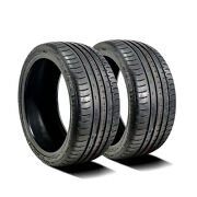 2 New Accelera Phi 245/45zr17 245/45r17 99w Xl A/s High Performance Tires
