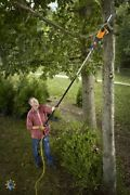 Tree Trimmer Pole Saw Electric Chainsaw Pruner Telescoping 15 Ft Branch Tree Kit