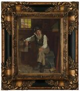 Brown Living In The Past 1896 Wood Framed Canvas Print Repro 8x10