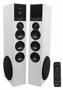 Tower Speaker Home Theater System W/sub For Vizio D-series Television Tv-white