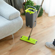 Broom Mop Double Action - Headboard Rotary To 360 Degree With Bucket Wiper