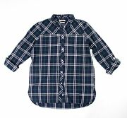 Brand New-barbour Coastal Collection Clam Shirt- Navy/ Green Check- Msrp 109