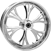 Rc Components Majestic Chrome 23 Abs Dual Disc Front Wheel 08-17 Harley Touring