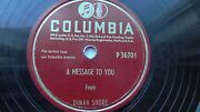 Dinah Shore Ford Dealership Promo 78rpm Single 10-inch Columbia Records P36701