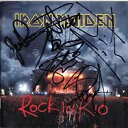 Iron Maiden Rock In Rio Fully Signed Bruce Dickinson Dave Murray Steve Autograph