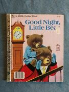 1961 Good Night Little Bear Golden Book Patsy And Richard Scarry 1st Printing