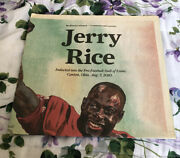San Francisco Chronicle Jerry Rice Hof Commemorative Poster Sports Section
