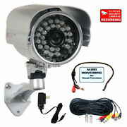 Security Camera W/ Sony Effio Ccd 700tvl 3.6mm Wide Angle And Audio Microphone Wwc