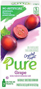 Crystal Light Pure Grape Drink Mix 84 On The Go Packets 12 Boxes Of 7