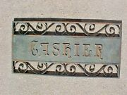 1900and039s Bronze Iron Teller Cashier And Book Keeper Window Signs Gates And Decorations