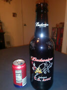 Budweiser U.s. Army King Pitcher 15 Tall Glass Beer Bottle 64 Oz Embossed