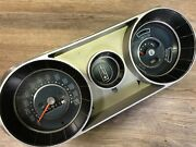 1965 65 Pontiac Acadian Canso Used Gm Dash Speedometer Cluster Rare Oem