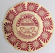 Vintage Milk Bottle Caps New Old Stock Wrappers Carrlands Dairy Ferndale Ny