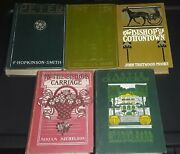 5 Ornate Covers Antique Hardcover Books Free Shipping