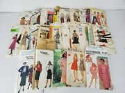 Lot Of 25 Vintage Sewing Patterns Various Brands All Women's Size 8 Sold As Is