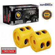 Autmatch Winch Cable Hook Stopper 2 Pack Rubber Shock Absorbent Winch Stopper And