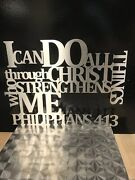 Bible Verse Metal Wall Art - I Can Do All Things Through Christ