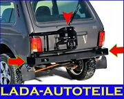 Power Rear Bumper With Spare Wheel Bracket And Trailer Hitch Tow Bar 4x4 2121