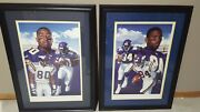 Minnesota Vikings Cris Carter-randy Moss Autographed-matched Number Set By Day