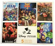 New Disney Pixar Ceaco 5 Jigsaw Puzzle Set- Toy Story 2, Cars, The Incredibles