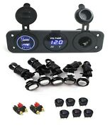 12v Portable Power Box Component Kit - For Ice Fishing Camping Box Not Included