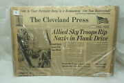 Vintage Wwii Newspaper Front Page Headline Sky Troops Rip Nazis Sept 18 1944