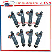 8pack Fuel Injectors 23250-50040 For 2000-2004 Toyota Tundra And Lexus 4.7l V8