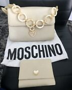 Authentic Moschino Women Handbag With Matching Wallet Limited Addition