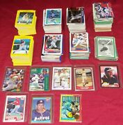 Over 500 Baseball Trading Cards Fleer Tops Score Bubble Gum Big Lot Collection