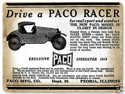 Paco 1919 Car Metal Sign Classic Collectible Vintage Antique Style Wall Decor299