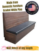Restaurant Wooden Wall Bench Sturdy And Beauty Made In America