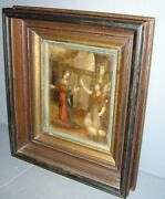 Antique Italian Old Masters Annunciation Of The Blessed Virgin Mary Oil Painting