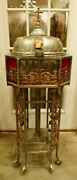 Ornate Church Standing Baptismal Metal W Brass Architectural Salvage 48h