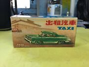 Vintage Toy In Brake Car Tin With Box Mf 713 Taxi Red