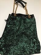 Vintage Hobo / Bucket Dolce And Gabbana Sequin Bag With Gold Chain And Fringe