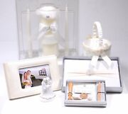 6 Wedding Rhinestone And Pearl Ivory/cream Guest Book Unity Candle Wax Seal Kit