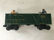 Antique Lionel 3370 Wells Fargo Fast Express Outlaw And Sheriff Gunfight Metal Car