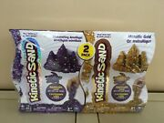 Kinetic Sand 2 Packs -shimmering Amethyst Metallic Gold Magic Sand For Ages 3+