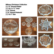Vintage Mikasa Set Of 5 Holiday Christmas Serving Platters Great Condition